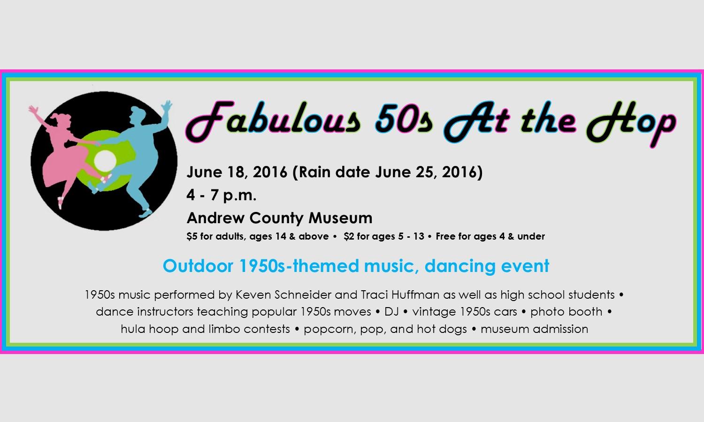 Fabulous 50s At the Hop June 18
